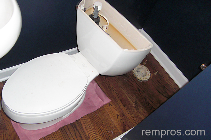 Removing Old Toilet