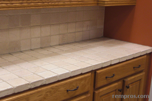 Travertine Tile Countertop