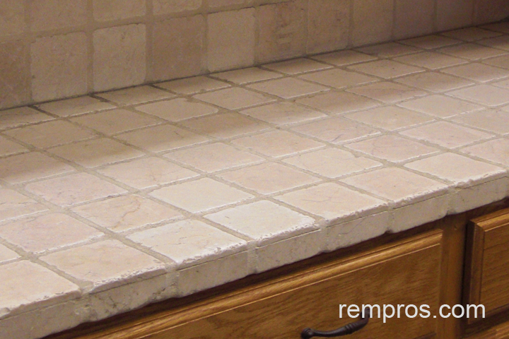 Marvelous Travertine Tile Kitchen Countertop