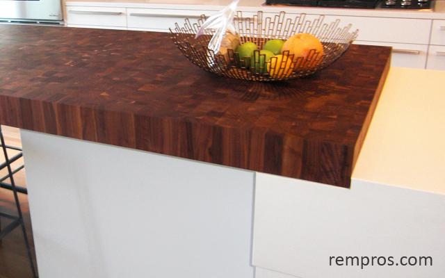 Wood kitchen countertop - butcher bock counter