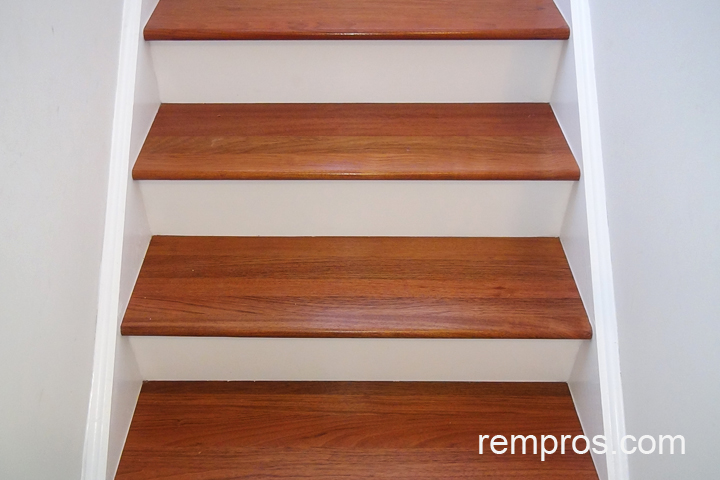 Brazilian Cherry Hardwood Steps