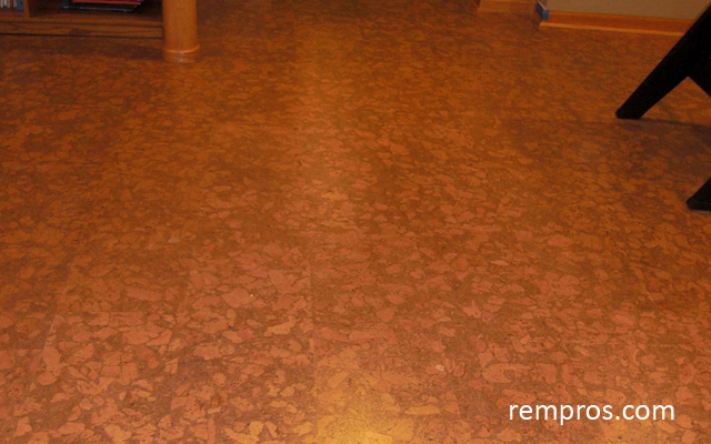 Laminate flooring laminate flooring cork look for Cork floor tiles
