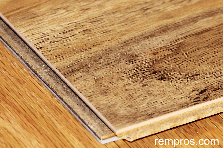 Laminate Flooring Plank With Attached Underlayment