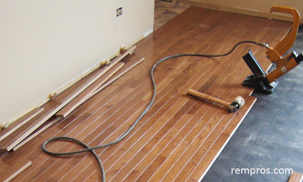 Wood floor installation for Hardwood flooring 76262