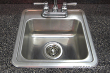 Single Bowl Stainless Steel Self Rimming Kitchen Sink