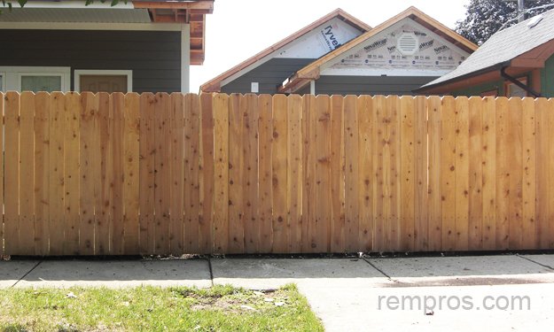 Standard 6 Ft High Wood Fence