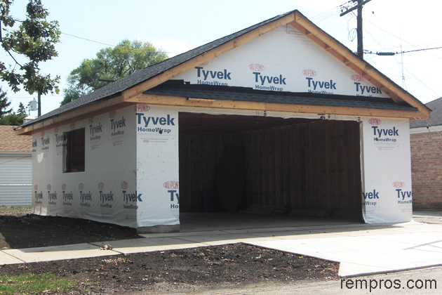 Roof repair garage roof repair cost for Cost of new construction