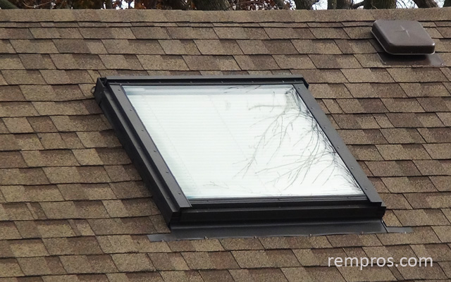 Skylight installed - medium pitch roof