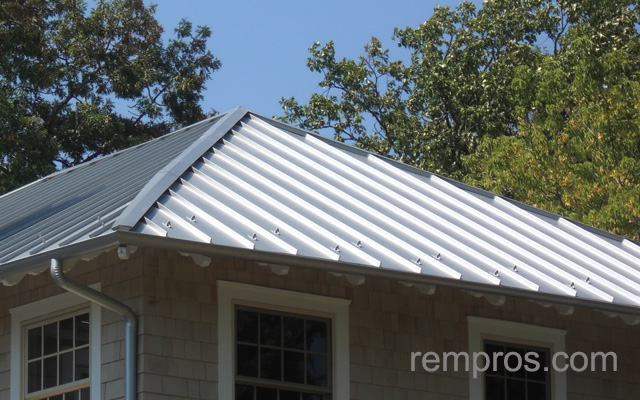 Standing seam metal roof dimensions images for Metal hip roof