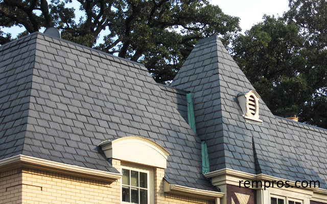 Synthetic Slate Roof Replacing Roofing Materials