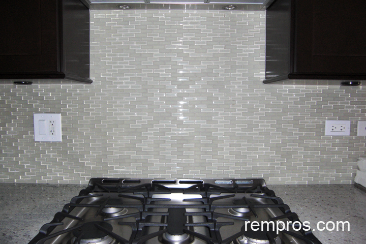 Glass mosaic vs marble tiles kitchen backsplash comparison chart