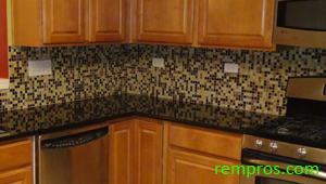 how to install a tile backsplash on kitchen drywall