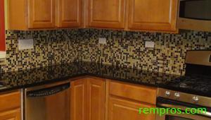 Kitchen Tile Backsplash Installed
